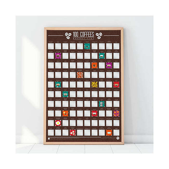 Kaparós poszter - 100 kávé amit meg kell kóstolnod