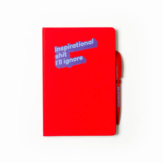 Cinikus jegyzetfüzet Inspirational shit I'll ignore