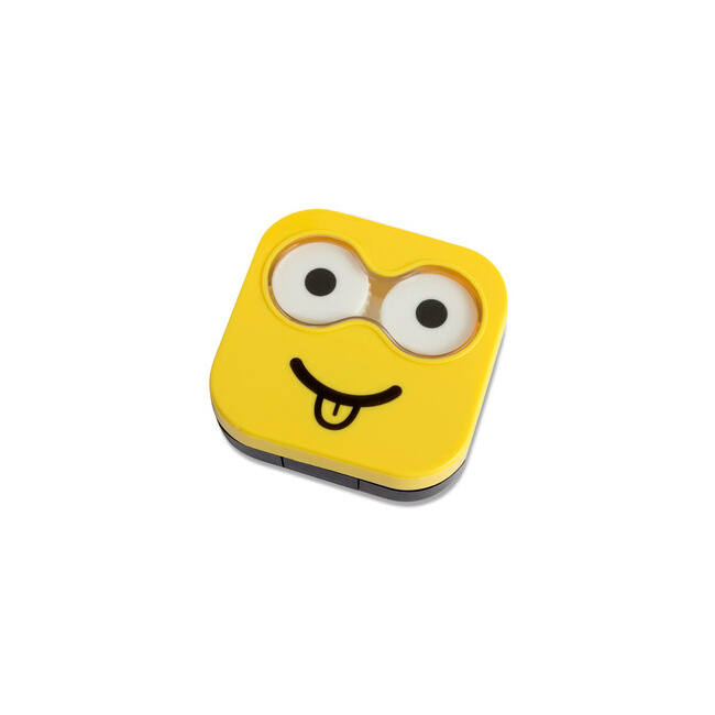 Emoji kontaklencse tartó Sárga