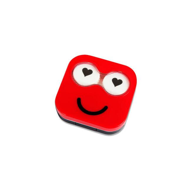 Emoji kontaklencse tartó Piros