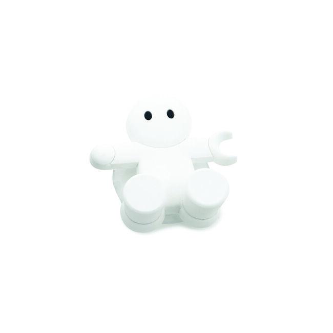 Emberkés fogkefetartó fehér