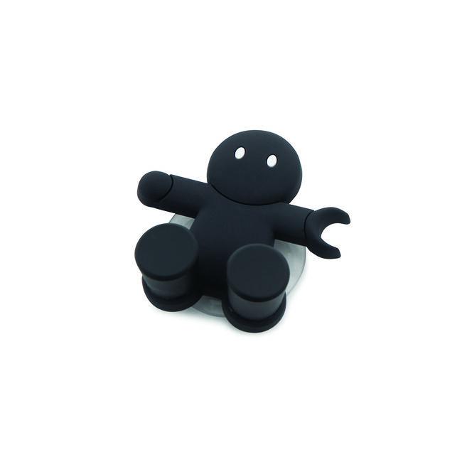 Emberkés fogkefetartó fekete