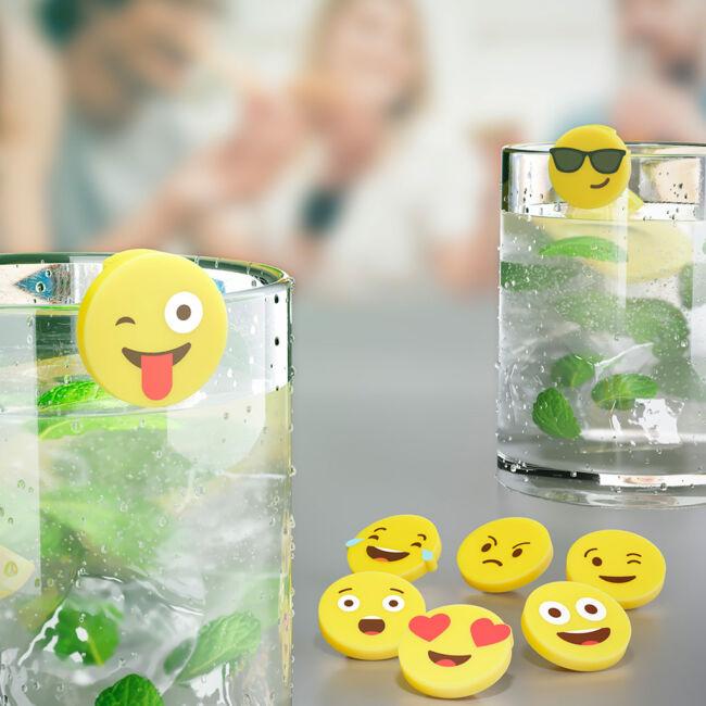 Emoji pohárjelölők (8 db-os szett)