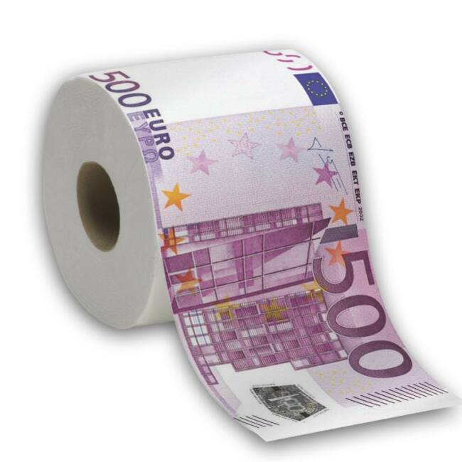 500 Eurós WC papír