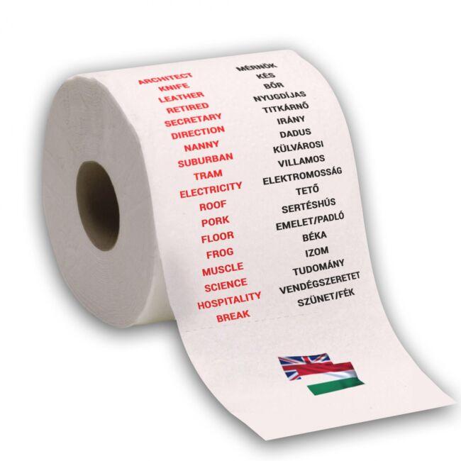 Nyelvtanulós WC papírok Angol szótanulás