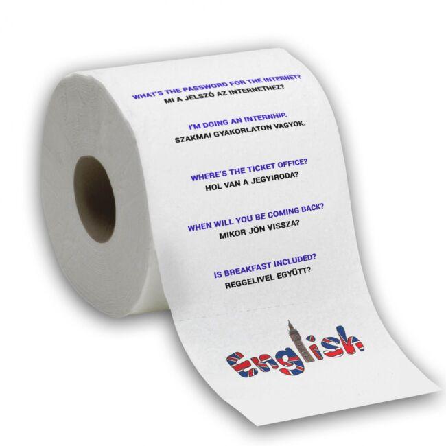 Nyelvtanulós WC papírok Angol társalgási alapok