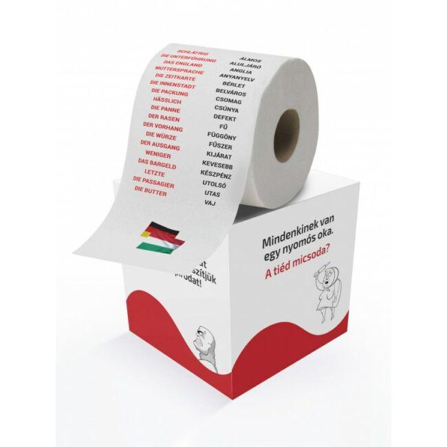 Nyelvtanulós WC papírok Német szótanulás