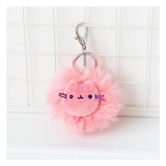 Pusheen cica kulcstartó 3 színben Rózsaszín