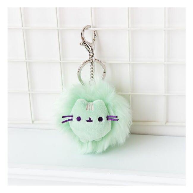 Pusheen cica kulcstartó 3 színben Zöld