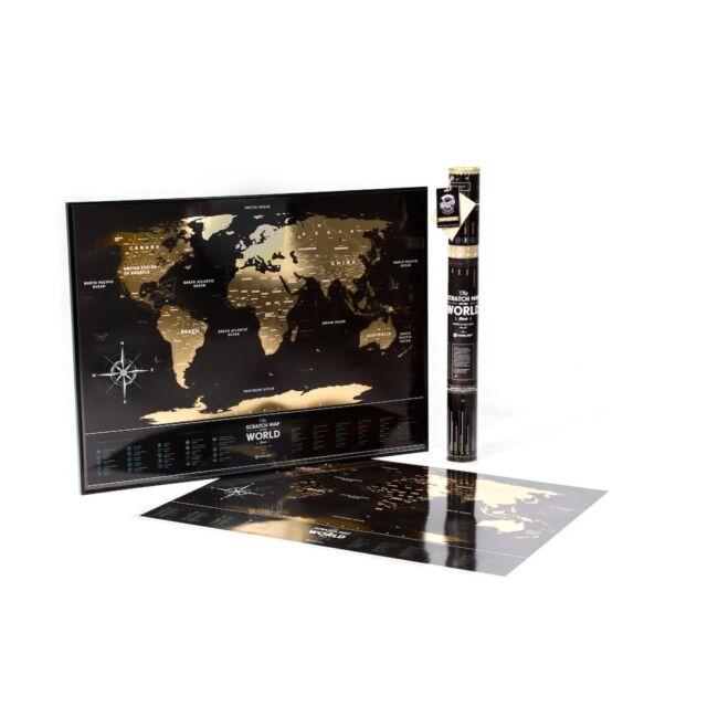Kaparós Utazó Térkép - elegant fekete változatban