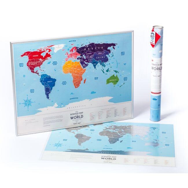 Kaparós világtérkép kék/ezüst változatban