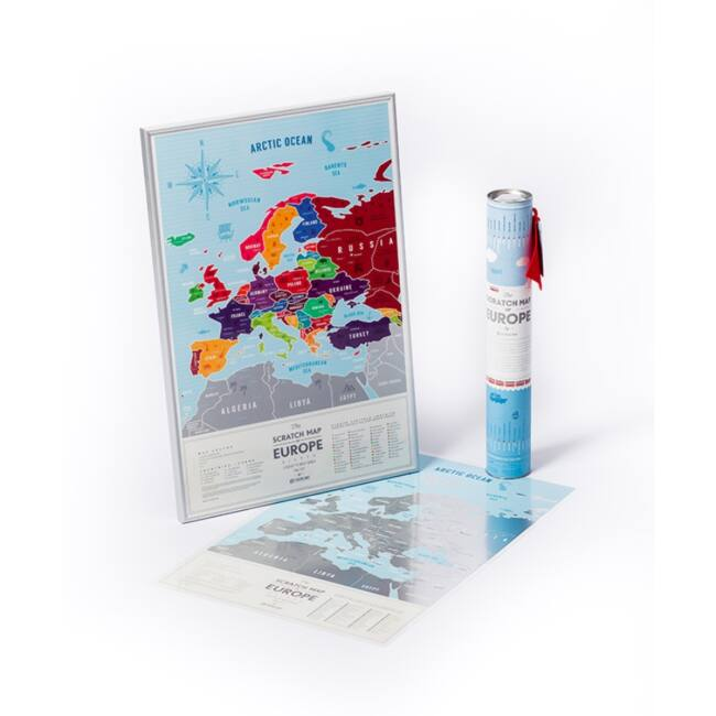 Kaparós Európa térkép - kék/ezüst változatban