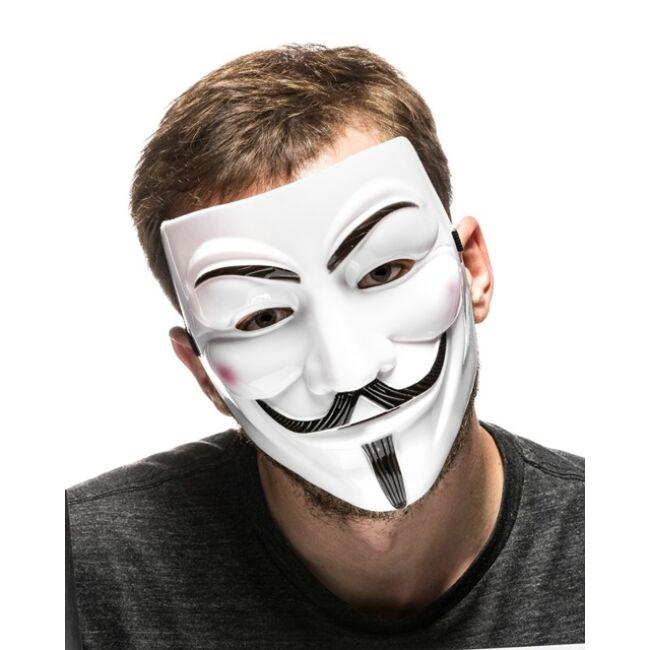 Anonymous, Guy Fawkes maszk - fehér