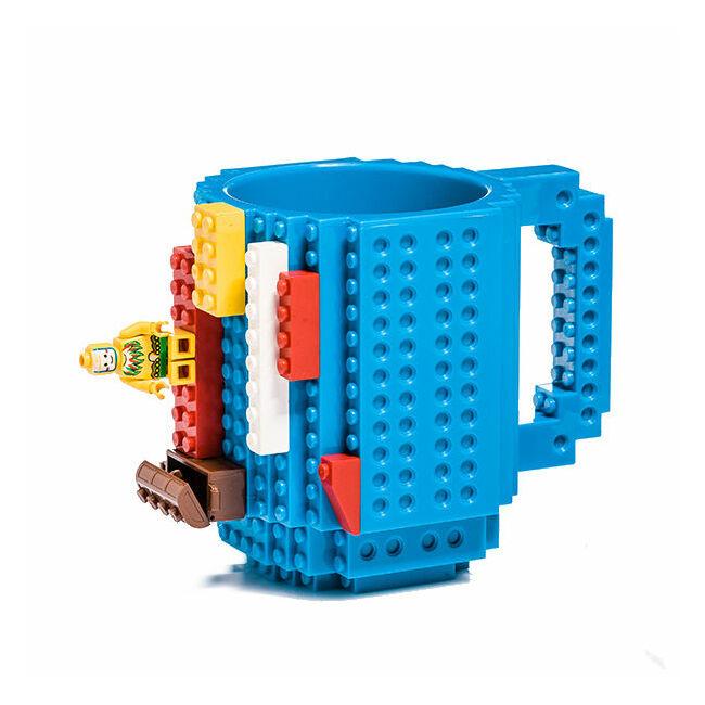 Építőkocka bögre Kék