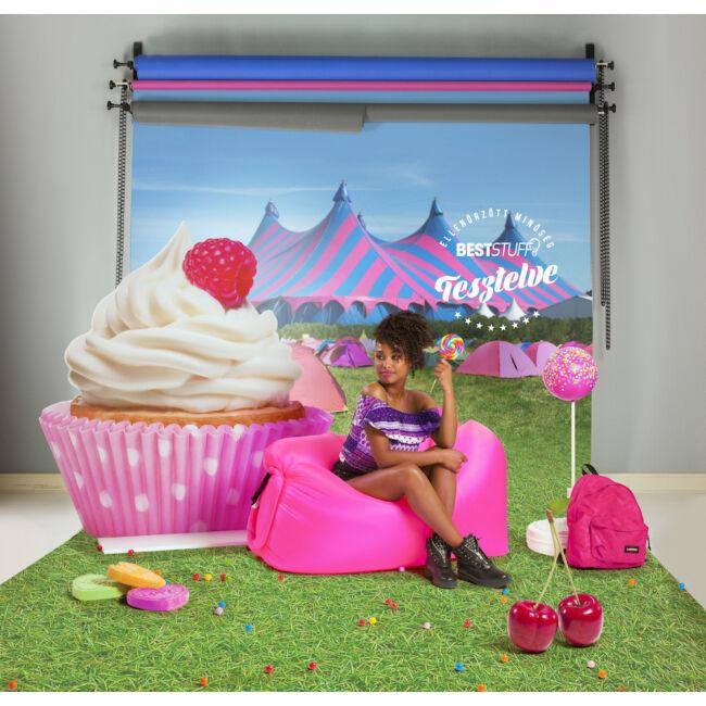 Lazy Bag pumpa nélkül felfújható matrac Rózsaszín