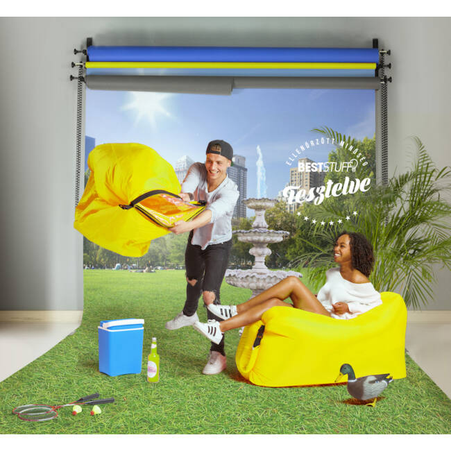 Lazy Bag pumpa nélkül felfújható matrac Sárga
