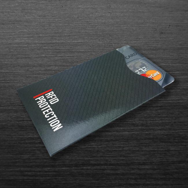 RFID bankkártya adatlopás elleni tok - fekete