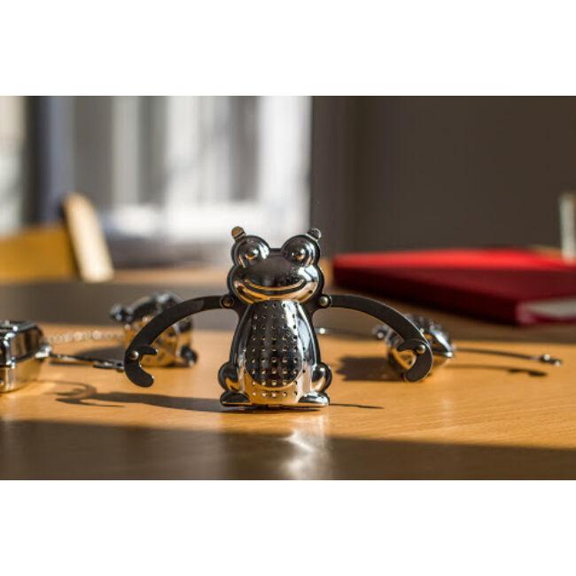 Kreatív rozsdamentes acél teafilterek - robot, béka, majom, űrhajó Béka