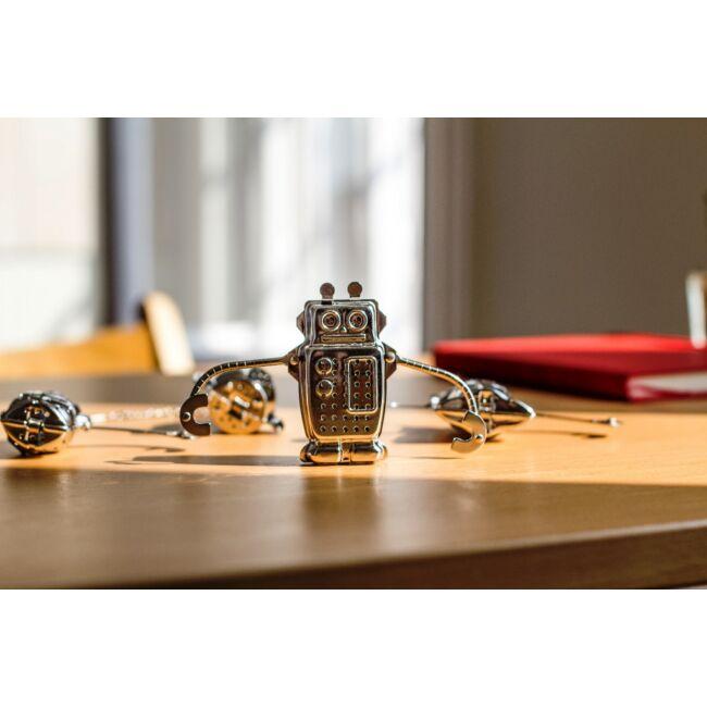 Kreatív rozsdamentes acél teafilterek - robot, béka, majom, űrhajó Robot