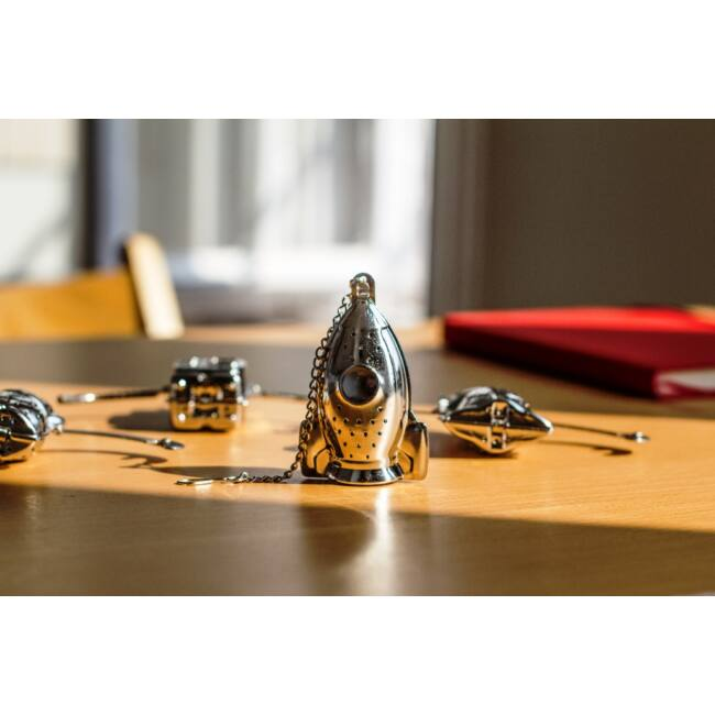 Kreatív rozsdamentes acél teafilterek - robot, béka, majom, űrhajó Űrhajó
