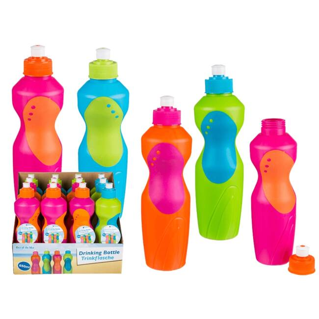 Neon kulacsok 650 ml Rózsaszín/Narancs kupak