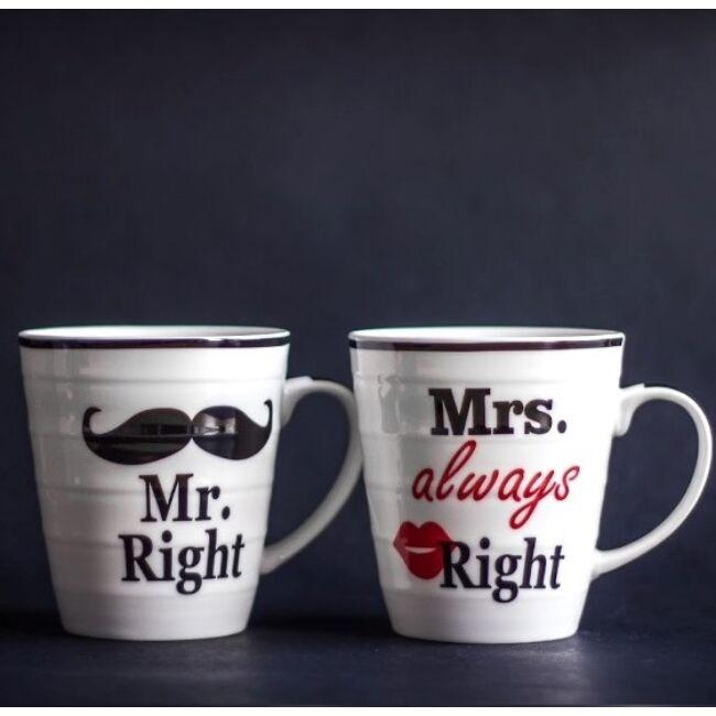 Mr Right & Mrs Always Right bögrék (2 db)