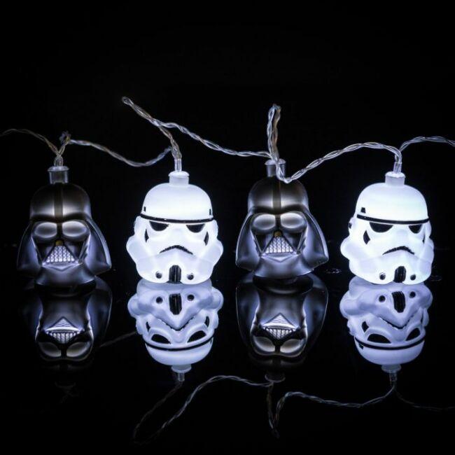 Star Wars Stormtrooper és Darth Vader 3D fényfüzér