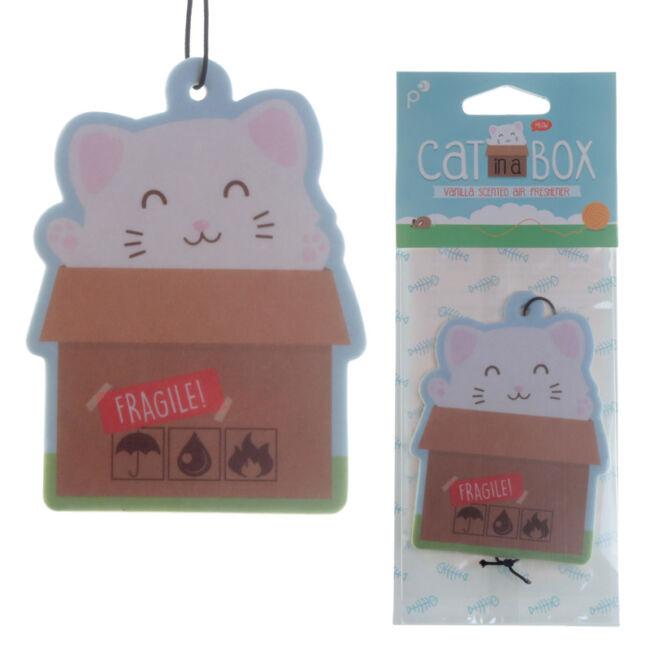 Cuki cica a dobozban vanília illatú légfrissítő