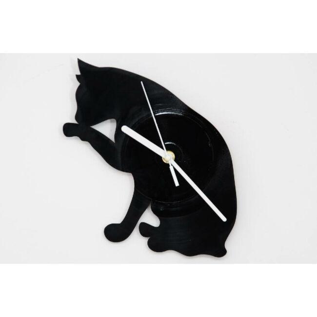 Macska bakelit falióra - csendes óraszerkezettel
