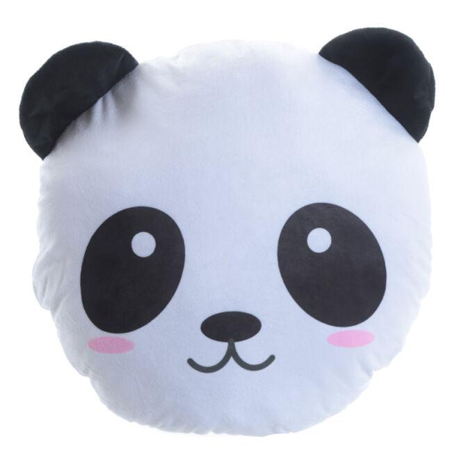 Plüss panda fej párna