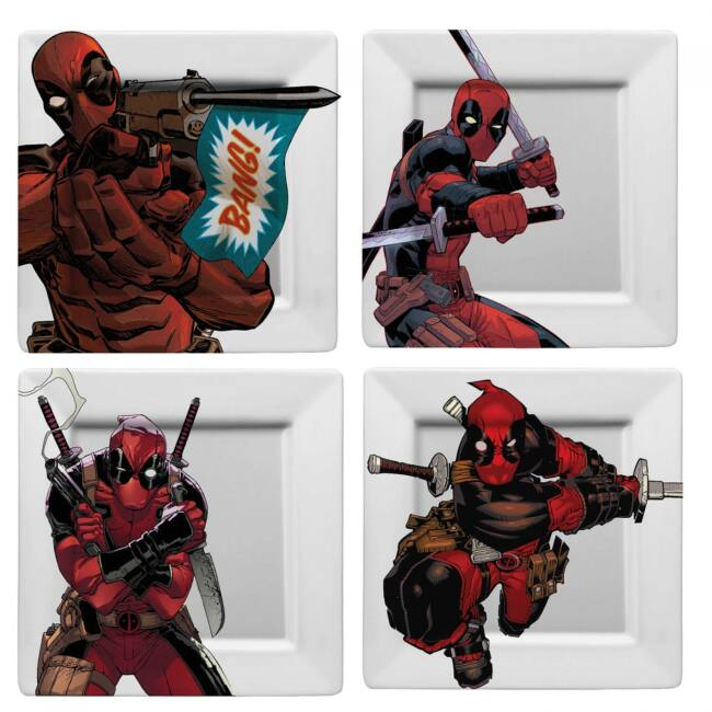 Deadpool BANG! 4 darabos melamin tányér szett