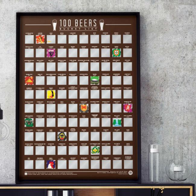 Kaparós poszter - 100 sör amit meg kell kóstolnod