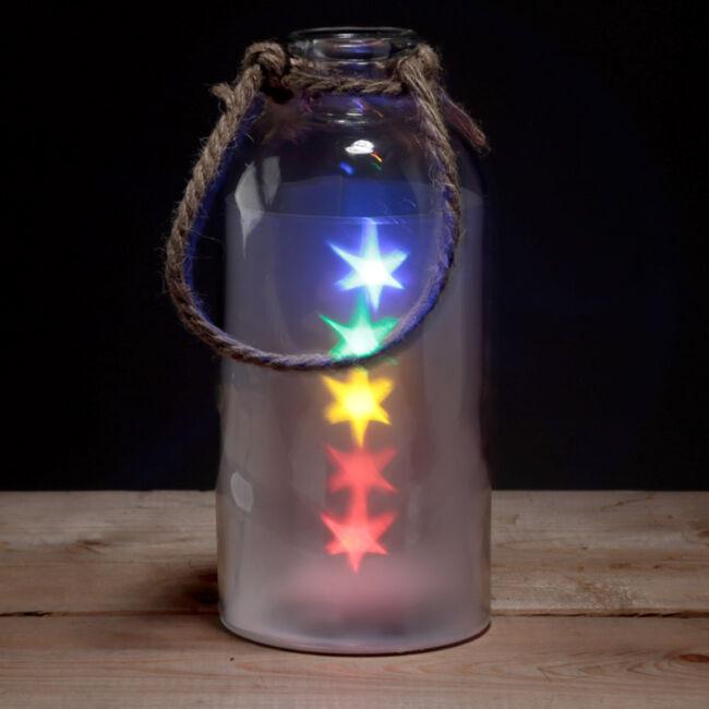 Dekoratív befőttes üveg LED világítás
