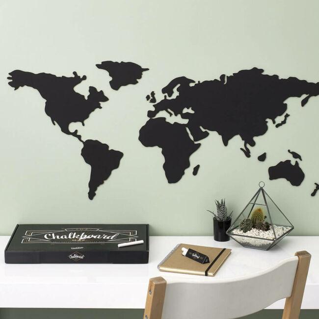 Krétával írható világtérkép