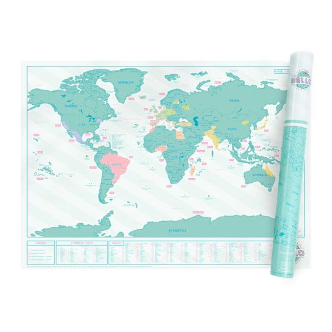 Kaparós térkép - Hello - Üdvözlések világszerte