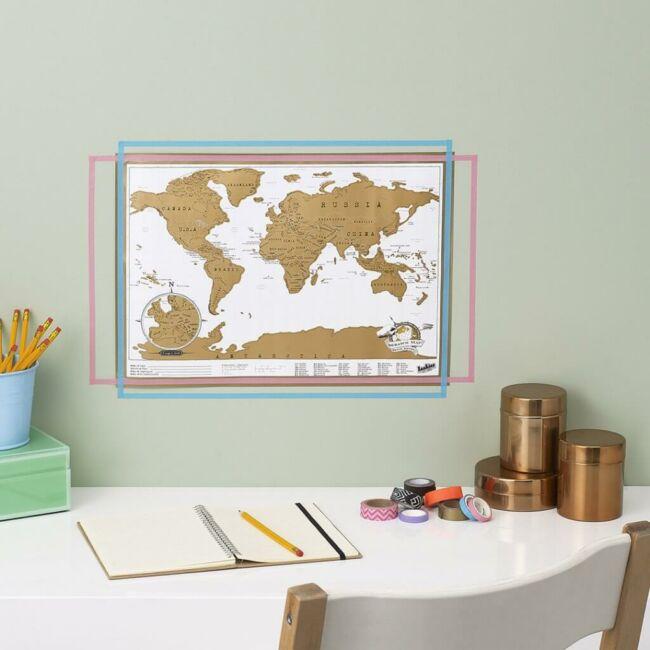 Scratch map mini változatban - kaparós térkép világutazóknak