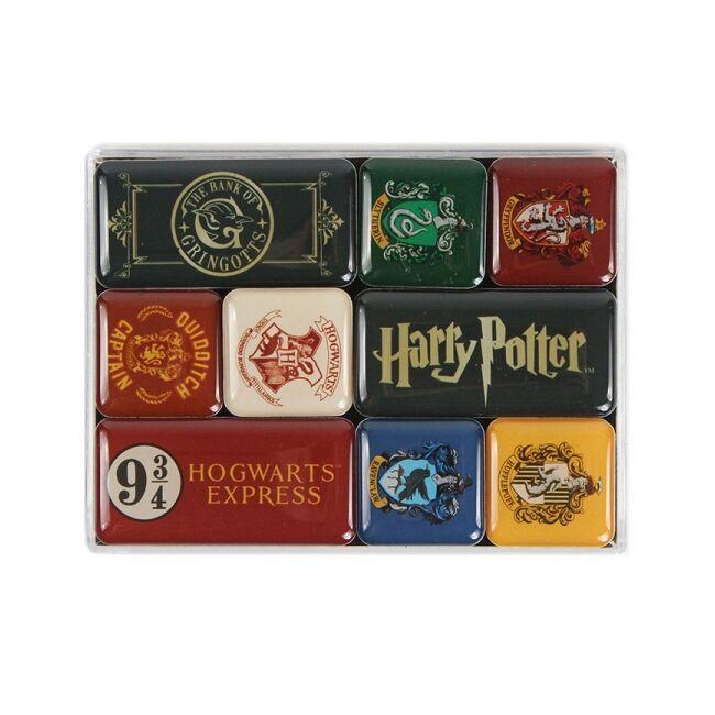 Harry Potter hűtőmágnes szett - Házak