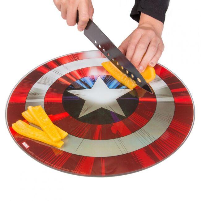 Amerika kapitány edzett üveg vágódeszka