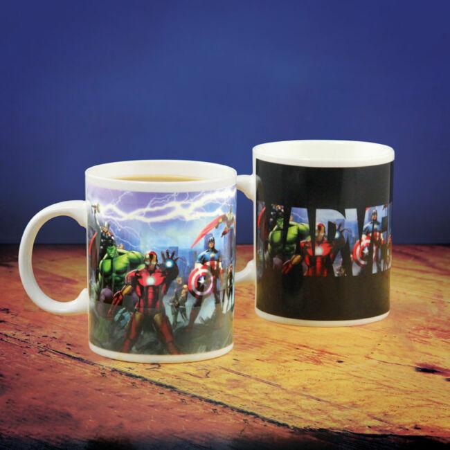 Bosszúállók Színváltós Bögre - Avengers