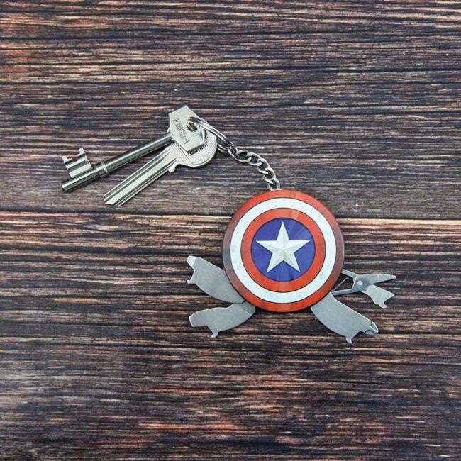 Amerika Kapitány multifunkciós kulcstartó
