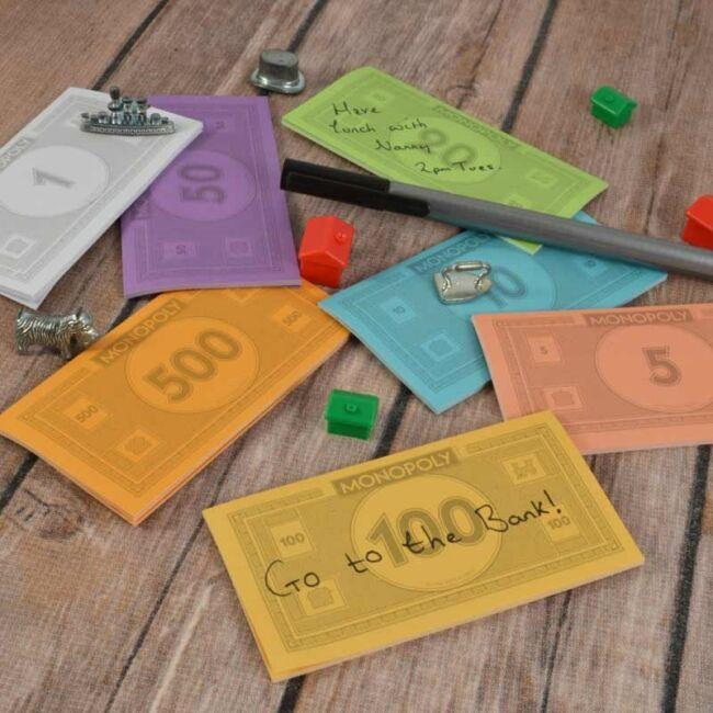 Monopoly öntapadós jegyzet cetli