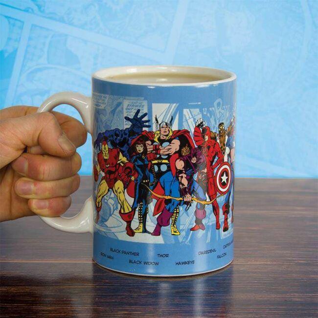 Retro Marvel karakterek óriás bögre