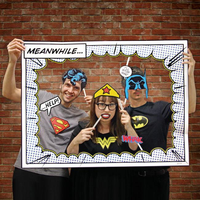 DC Comics Szuperhősök pálcikás party fotó kiegészítő