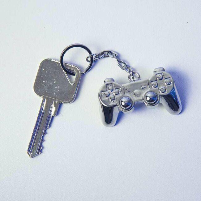 PlayStation kontroller fém kulcstartó