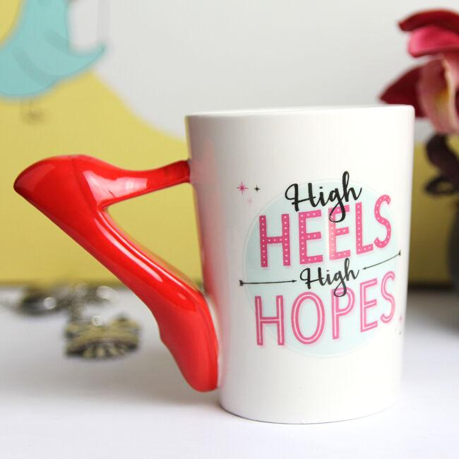 High Heels High Hopes - magassarkú bögre Piros