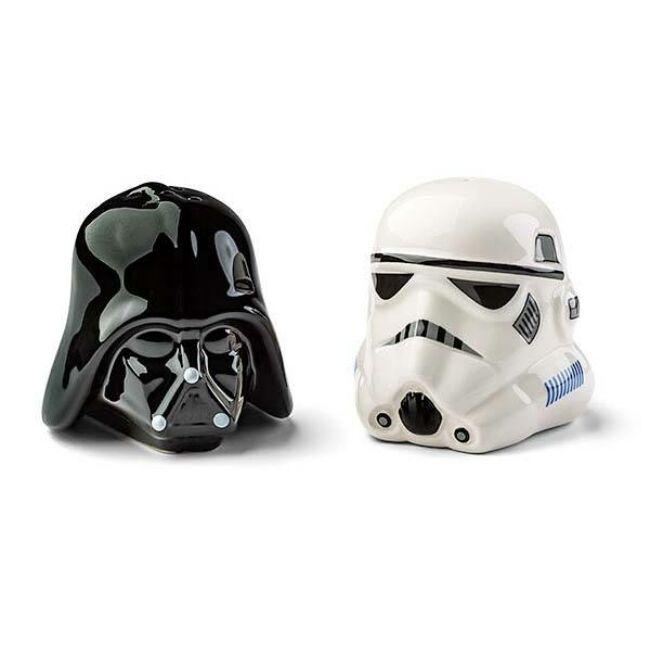 Darth Vader és Stormtrooper sisak Star Wars só- és borsszóró szett