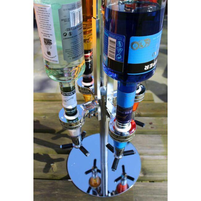 Ital inas - négy üveges italtartó és adagoló