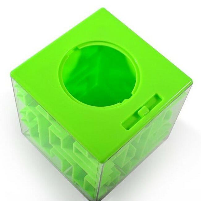 Pénz labirintus - logikai persely 3 színben Zöld