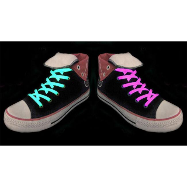 Fluoreszkáló/ Világító cipőfűző Rózsaszín