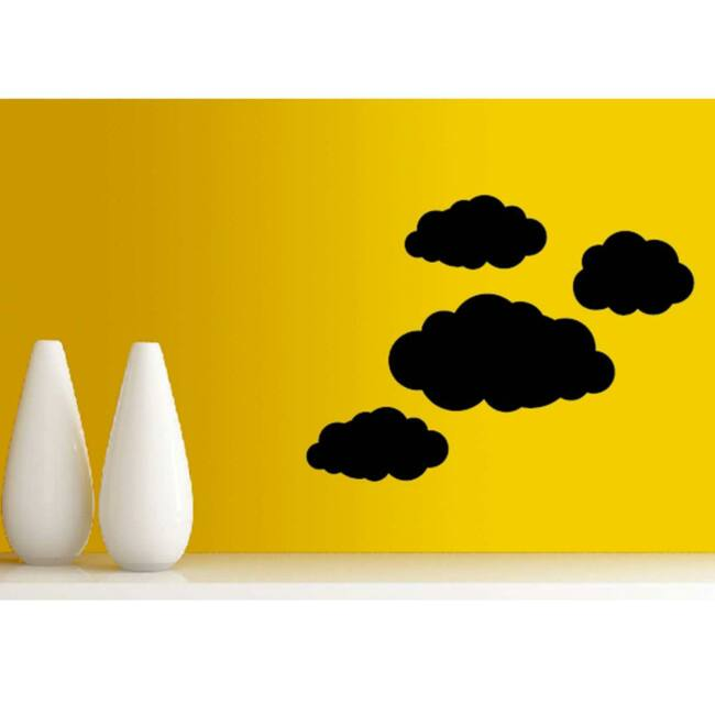 Krétával írható felhő falmatrica szett